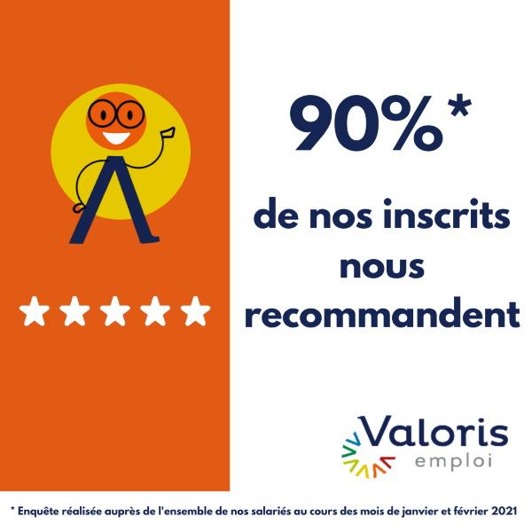 taux de recommandation inscrits Valoris emploi 2020